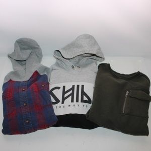 Boys Bundle of 3 Long Sleeve Sweaters size M